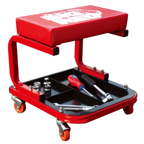 Torin Big Red Rolling Creeper Garage/Shop Seat Padded Mechanic Stool with Tool Tray Red  sc 1 st  Amazon.com & Shop Stools with Wheels: Amazon.com islam-shia.org