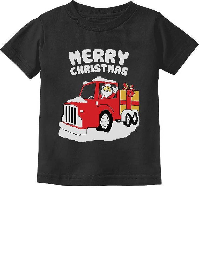 Merry Christmas Santa Gift Truck Cute Xmas Toddler//Infant Kids T-Shirt