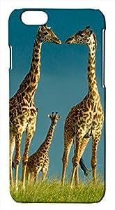 Generic Baby Giraffe and Parent Giraffes Wildlife on Grass Hard Case for iPhone 6