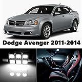 8pcs LED Premium Xenon White Light Interior Package Deal for Dodge Avenger 2011-2014