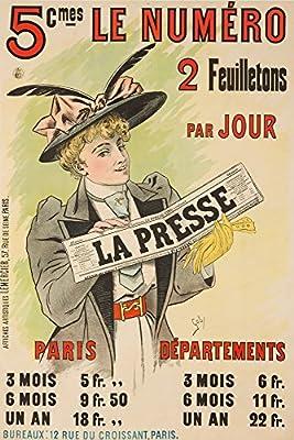 La Presse Vintage Poster (artist: Gaby) France c. 1895
