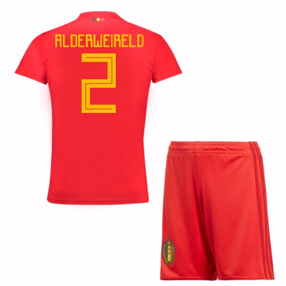 UKSoccershop 2018-19 Belgium Home Mini Kit (Toby Alderweireld 2)