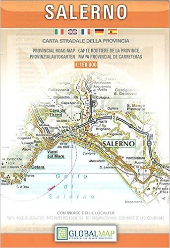 Salerno Campania Italy Provincial Road Map English Spanish