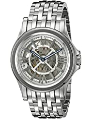 Bulova Mens Kirkwood Swiss Automatic Stainless Steel Casual Watch, Color:Silver-Toned (Model: 63A001)