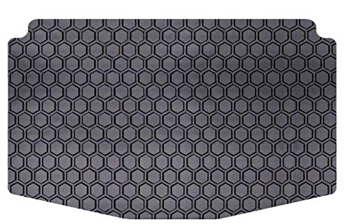 Intro-Tech Hexomat Cargo Area Custom Fit Floor Mat for Select Volkswagen Beetle Models w/Subwoofer - Rubber-Like Compound, Medium, Black