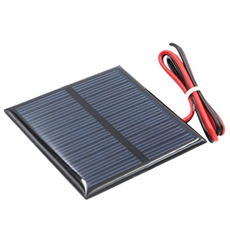 Flameer Mini Solar Panel Cells for Solar Power Energy, DIY Home, Science Projects Toys Battery Charger, I 5.5V 90x80mm