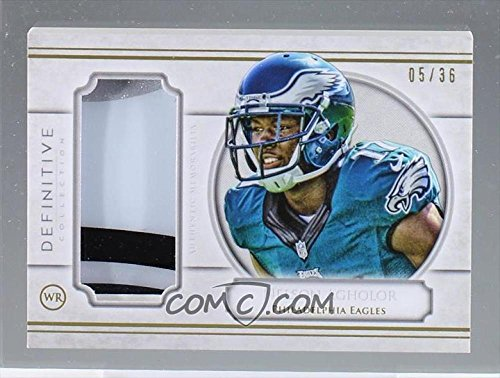 Football NFL 2015 Definitive Definitive Helmet Relic #DHC-NA Nelson Agholor MEM /55 Eagles by