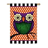 Whimsy Owl Garden Flag Size: 43″ H x 29″ W Review