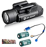 OLIGHT Rechargeable kit PL-2 Valkyrie 1200 Lumen Led Pistol Flashlight with Mount for Glock and 1913, Two RCR123A Rechargeable Batteries, Universal Magnetic USB Charger and LegionArms Sticker Review