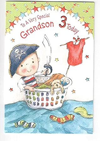 To a special grandson 3 today happy birthday card amazon to a special grandson 3 today happy birthday card bookmarktalkfo Gallery