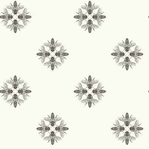 York Wallcoverings ON1643 Honey Bee Wallpaper Black/White