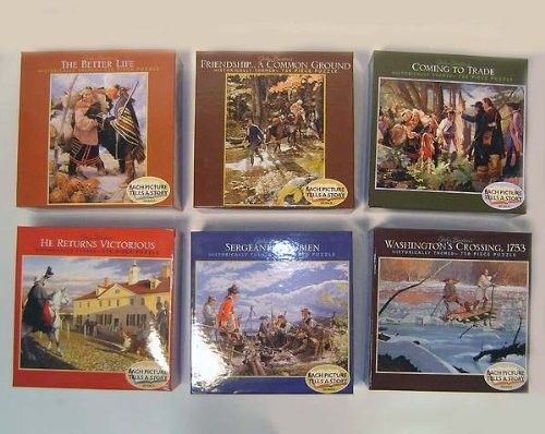 set-of-6-john-buxtons-historical-colonial-times-jigsaw-puzzles