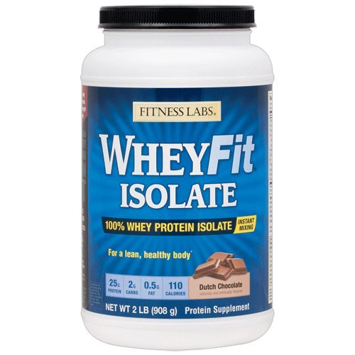 Cheap Fitness Labs WheyFit Isolate – 100% Whey Protein Isolate (2 Pounds, Dutch Chocolate)