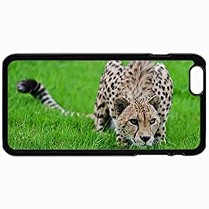 Personalized Protective Hardshell Back Hardcover For iPhone 6, Cheetah Grass Stolen Predator Design In Black Case Color
