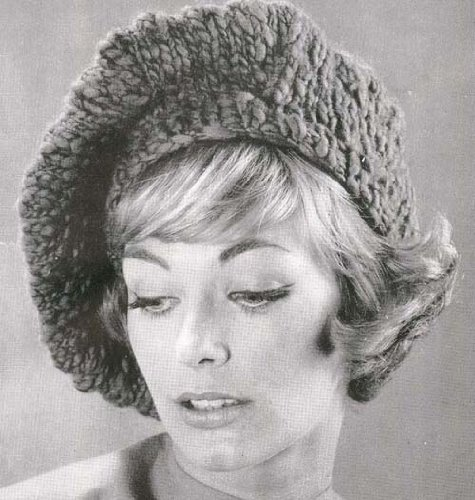 Knit Tam Patterns (Knitted Slouchy Beret Tam Hat Cap Beanie Knit Knitting Pattern)