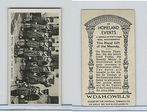 W62-146 Wills, Homeland Events, Ser54, 1932, 13 Royal Gift, Maundy