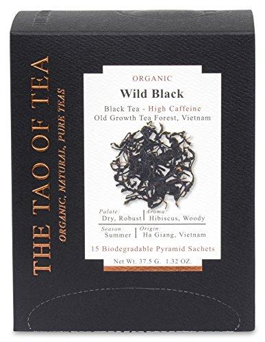 The Tao of Tea Wild Black Box Pyramid Sachets, 1.32 Ounce