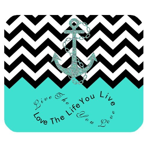 live-the-life-you-love-love-the-life-you-live-turquoise-black-chevron-anchor-custom-mouse-pad