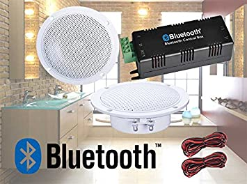 Digitalis Audio Bluetooth Ceiling Speaker Kit Bluetooth Amplifier Water  Resistant Ceiling Speakers Perfect For Kitchen Or