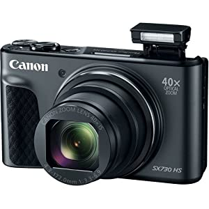 Canon PowerShot SX730 Digital Camera 40x Zoom Lens + 32GB SD + Spare Battery + Complete Accessory Bundle by Canon