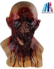 MASCARELLO Halloween Latex Walking Dead Zombie Decay with Chest Horror Costume Party Masks