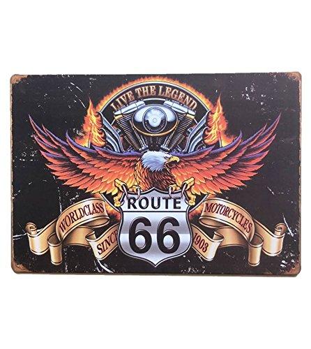 Route 66 Eagle - UNiQ Designs ROUTE 66 WITH EAGLE WINGS