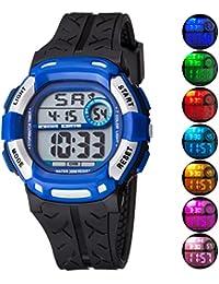 Kids Watch Sport Multi Function 30M Waterproof LED Alarm...