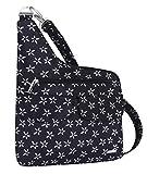 Travelon Anti-Theft Cross-Body Bag, Two Pocket (A B/W SMALL FLOWER PRINT)