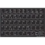 Selbstkleben - 48 Tasten Matt - Deutsche Tastatur Aufkleber -TastaturAufkleber für PC Notebook Laptop
