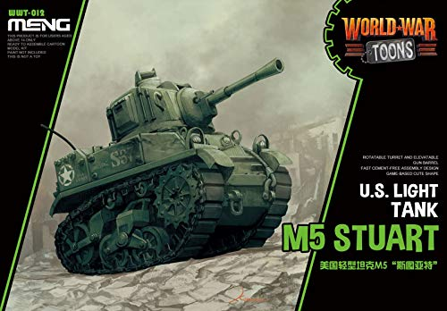 MNGWWT012 Meng World War Toons - US Light Tank M5 Stuart for sale  Delivered anywhere in USA