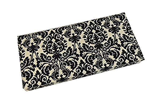 Black and Ivory Damask Scroll 3