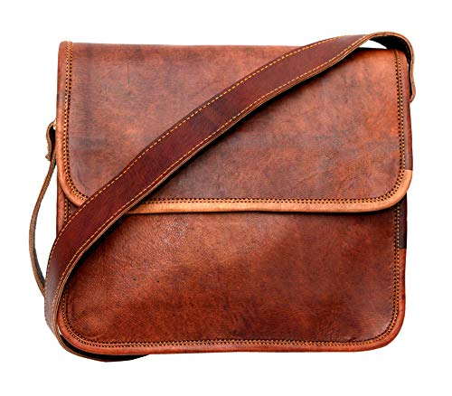 - Leather bag Fair Deal / half flap bag / messenger bag / travel bag / unisex bag/ cross body bag / office bag / brown bag
