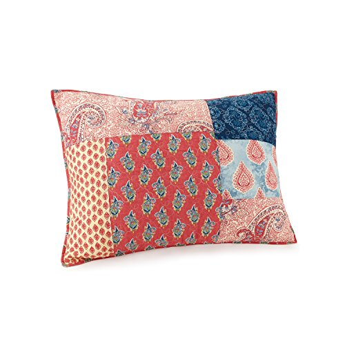 Jessica Simpson Standard Sham, Blue/Red Grace Quilt, ()