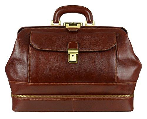 Leather Medical Bag, Doctor Bag, Vintage Style Satchel, Brown - Time Resistance by Time Resistance