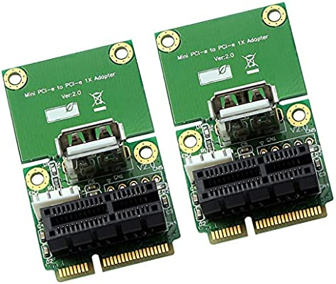 PCI Express X1 to Mini PCIe Adapter Card Converter Support USB Device