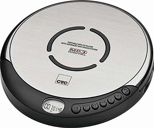 Lecteur CD et MP3 portable avec écouteurs intra-auriculaires, fonctionne avec des piles, argenté argenté Clatronic