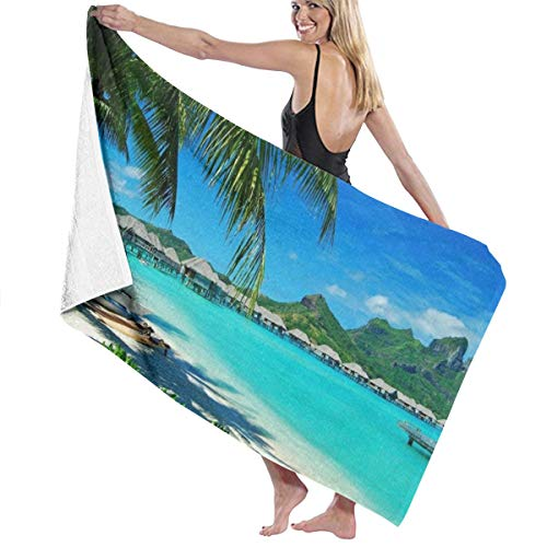 NiYoung Ultra Soft 100% Polyester Cotton Bath Towels Nature Ocean Sea Hawaii Beach Turquoise Green Blue Quick Dry Wash Cloths Beach Towel Sauna Towel, Machine Washable Highly Absorbent Bathroom Towel ()