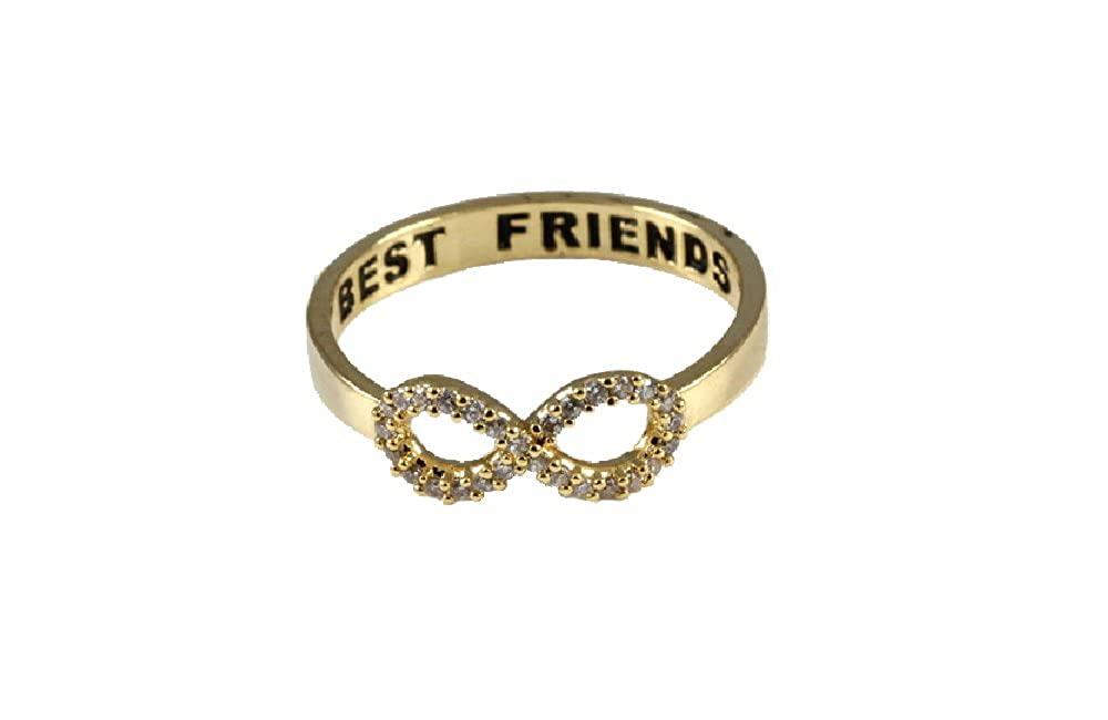 Amazon Best Friends Forever Infinity Ring for Women Silver
