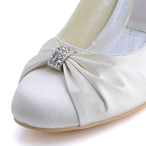 femme Minitoo mariage 9cm tendance Heel de beige Ivory Chaussures IzwEqrCzn