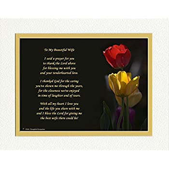 wife gift with thank you prayer for best wife poem tulips photo 8x10 double matted special wife gift for anniversary birthday christmas - Best Christmas Gifts For Your Wife