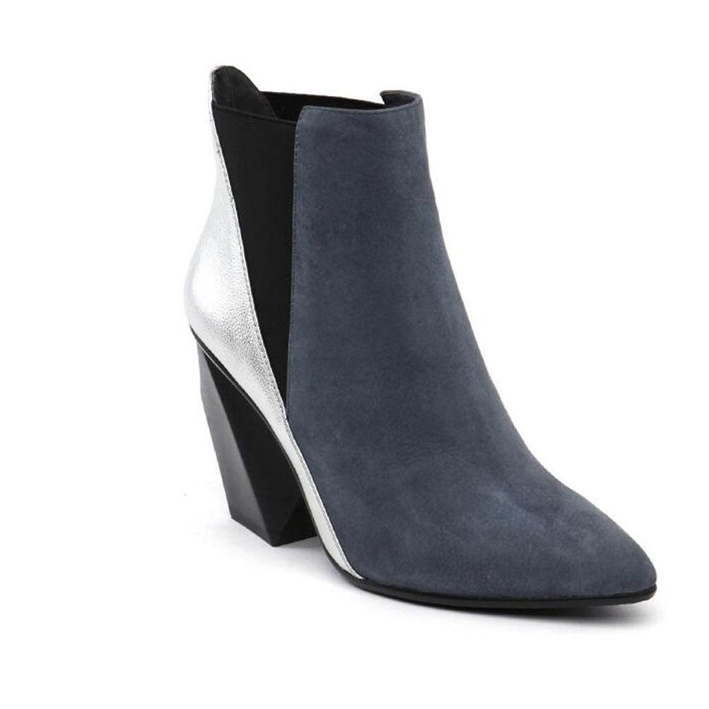 BOTXV Damen High Heels Klobige Raue Ferse Kurze Stiefel Martin Stiefel Chelsea Stiefel Spitz Nähen MultiFarbe  | Das hochwertigste Material