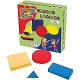 Brinquedo Pedagógico Madeira Blocos Lógicos 48 Peças Carlu