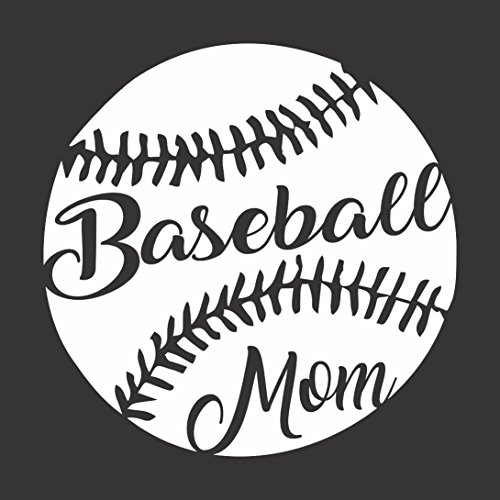 Barking Sand Designs Baseball Mom Sports Game - Die Cut Vinyl Window Decal/Sticker for Car/Truck