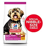 Hill's Science Diet Adult Small Paws Chicken Meal & Rice Recipe Dry Dog Food, 15.5 lb Bag