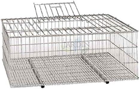 JAULA metálica para transporte de aves. Medidas 73x52x30 cm ...