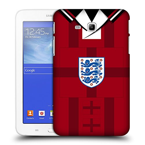 Wcf Case - Official England Football Team 1998 World Cup Finals Away 2018 Retro Crest Hard Back Case for Samsung Galaxy Tab 3 Lite 7.0