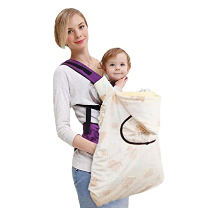 2cece85d258 Baby Carrier Hooded Cover Coat Baby Sling Wrap Warm Plush 0-36 Months for  Newborn Windproof Backpack Carrier Cloak for Winter