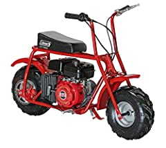 The Coleman trail100u (Ct100) reinvents the classic mini bike design with modern materials and craftsmanship. The reliable 3Hp OHV engine will power you through the trails All day with plenty of Muscle while being gas efficient. The robust st...