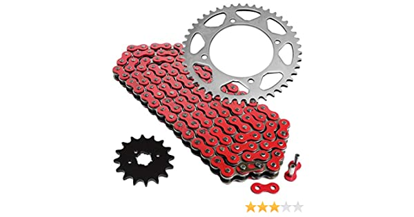 1989-2004 Red X-Ring Chain and Sprocket Set Yamaha Warrior 350