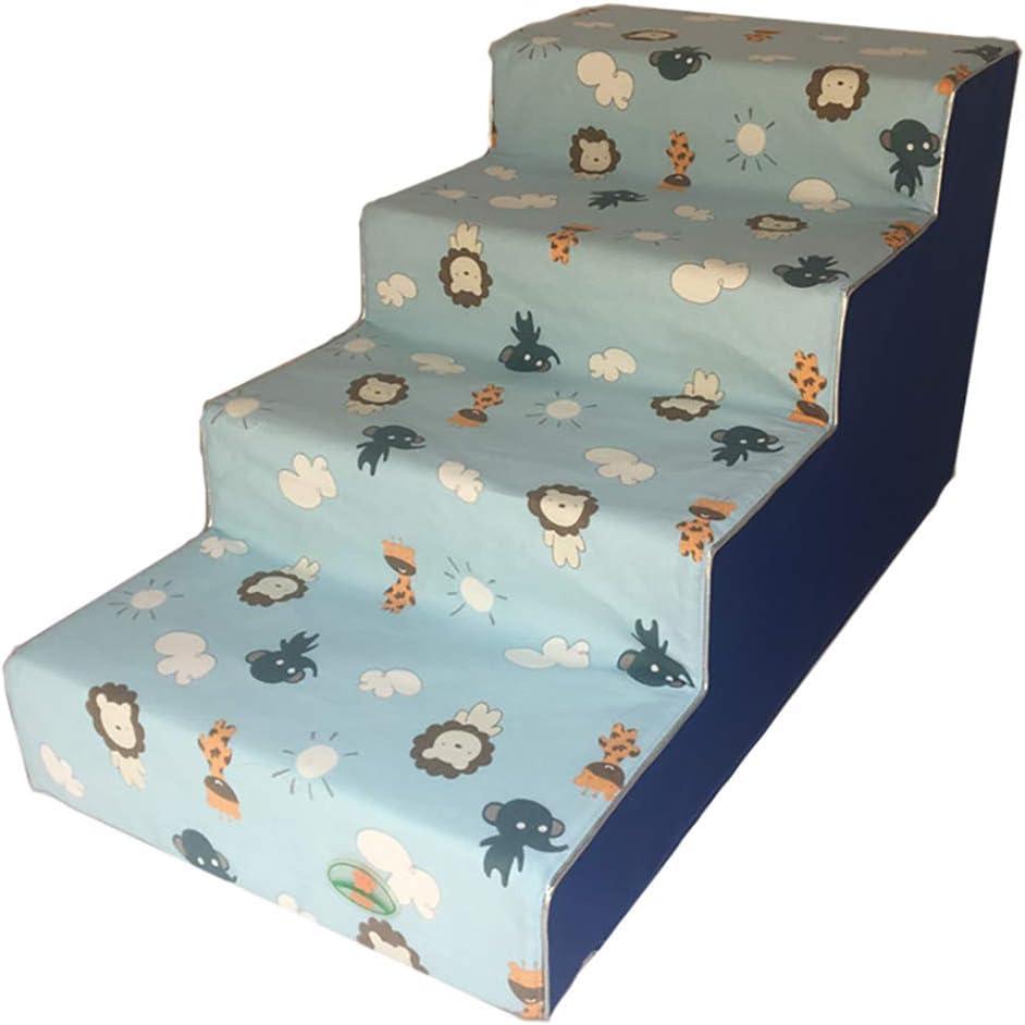 WYDM Escaleras para Perros, 4 peldaños para Gatos/Perros para Camas Altas, Escalera para Perros para Cama Alta, portátil, Cubierta Lavable extraíble (Color: Amazon.es: Hogar